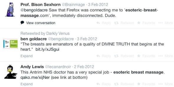 EBM Tweets 2012