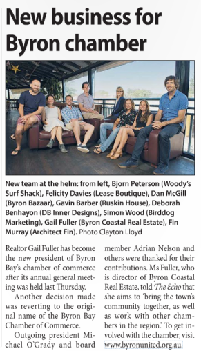 UniMed cultists infiltrate Byron Bay Chamber of Commerce - Photo by Sergio stand-in, Clayton Lloyd